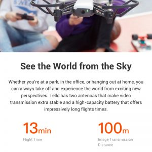 DJI Tello 720P WIFI FPV RC Dron s 5MP HD kamerom Intel - image 05fecce7-1cd5-4539-88df-f94979410381-300x300 on https://smartmall.hr