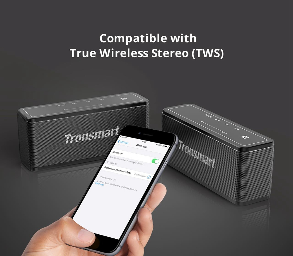 Tronsmart Element Mega 40W Bluetooth zvučnik s 3D digitalnim zvukom TWS - crna - image 3140502c-63e2-49ec-9cec-88ed08f21e6b on https://smartmall.hr