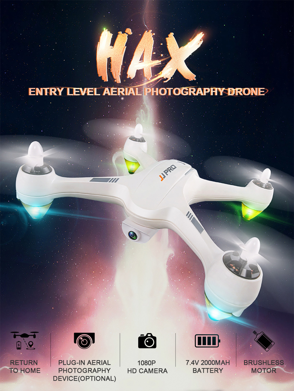 DRON JJRC JJPRO X3 HAX WIFI FPV - bijela - image JJRC-JJPRO-X3-HAX-WIFI-FPV-Brushless-RC-Quadcopter-RTF-White-20171207103430502 on https://smartmall.hr