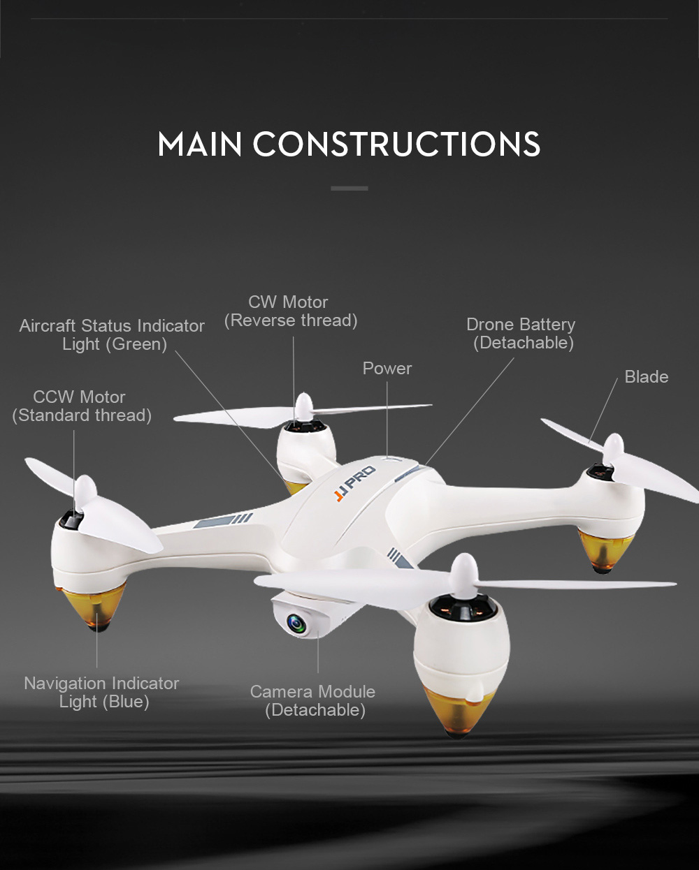 DRON JJRC JJPRO X3 HAX WIFI FPV - bijela - image JJRC-JJPRO-X3-HAX-WIFI-FPV-Brushless-RC-Quadcopter-RTF-White-20171207103545496 on https://smartmall.hr