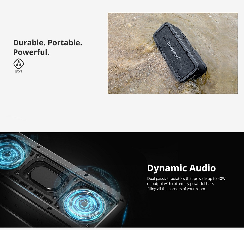 Tronsmart Element Force 40W - Bluetooth zvučnik IPX7 | Vodootporan | TWS & NFC Deep Bass | - image Tronsmart-Element-Force-Portable-Bluetooth-Speaker-20190131164259471 on https://smartmall.hr