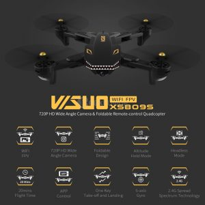 Quadcopter VISUO XS809S BATTLES SHARKS 720P WIFI FPV RTF - Crni - image VISUO-XS809S-BATTLES-SHARKS-RC-Drone-Extra-Battery-20180604165207782-300x300 on https://smartmall.hr