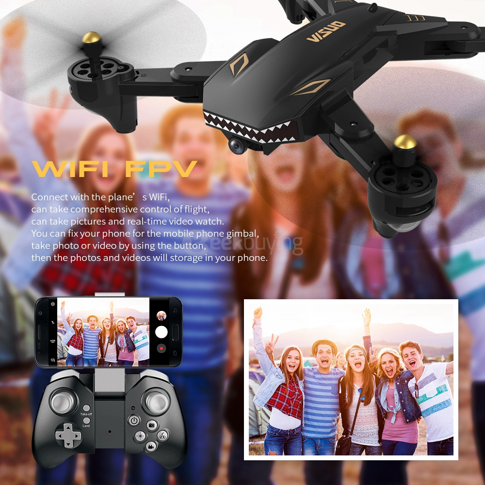 Quadcopter VISUO XS809S BATTLES SHARKS 720P WIFI FPV RTF - Crni - image VISUO-XS809S-BATTLES-SHARKS-RC-Drone-Extra-Battery-20180604165213379 on https://smartmall.hr
