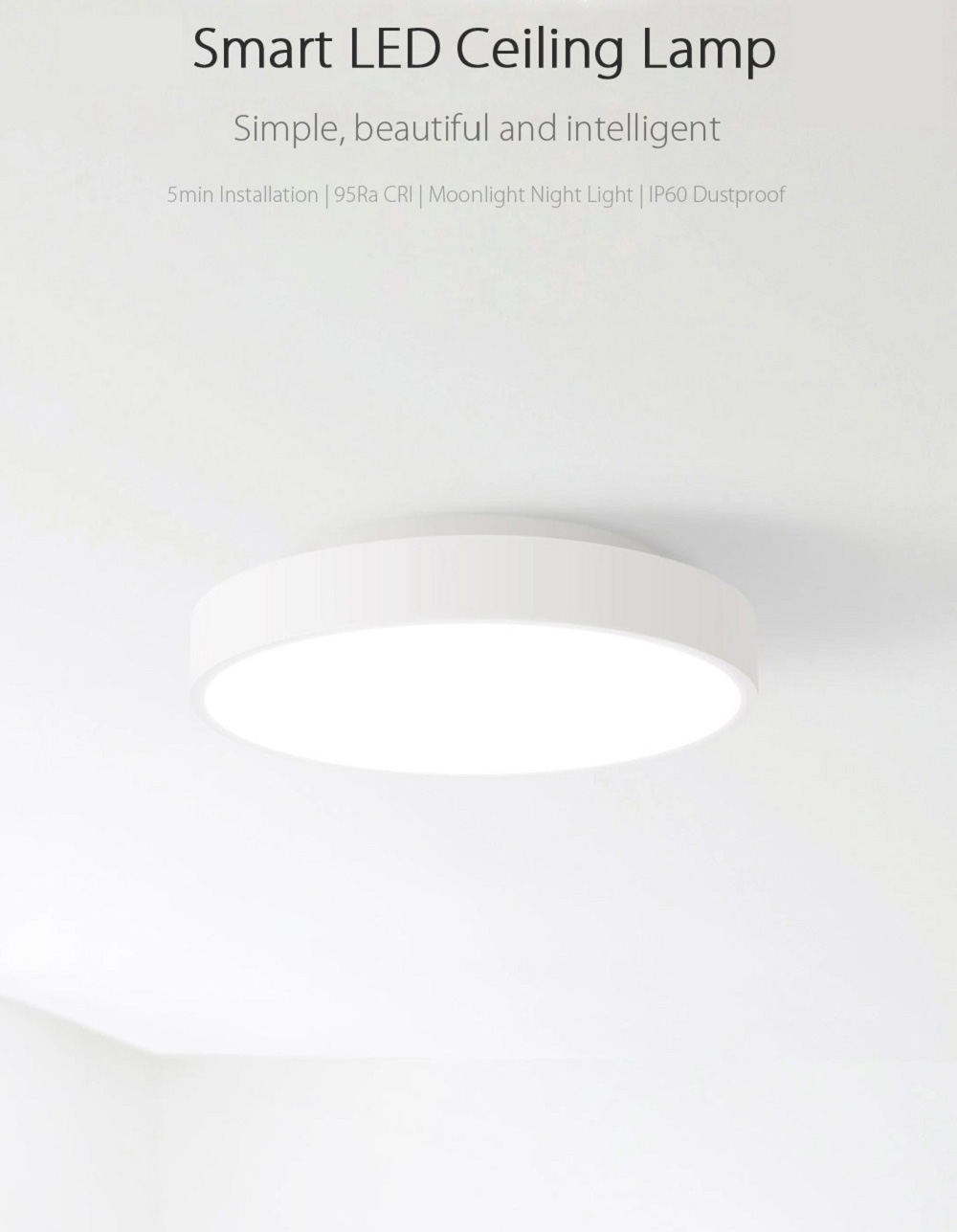 XIAOMI Yeelight Smart LED stropna svjetiljka s daljinskim upravljačem - image XIAOMI-Yeelight-Smart-LED-Ceiling-Light-20170724173826765 on https://smartmall.hr