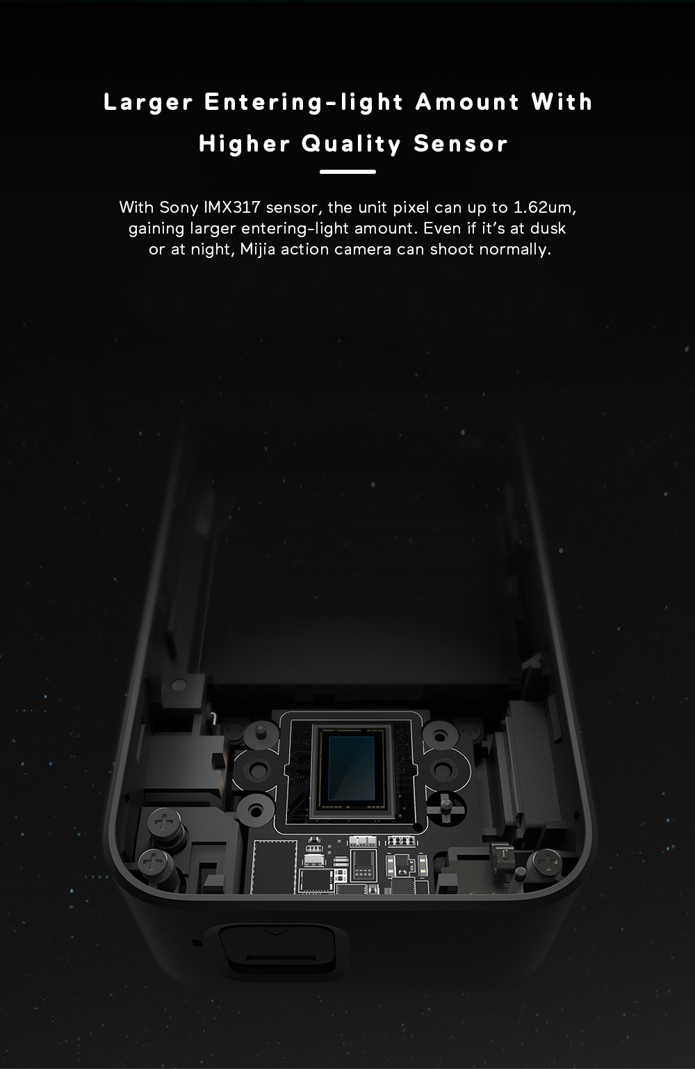 Xiaomi Mijia 4K Ambarella A12S75 Sony IMX317 2,4 - crna - image Xiaomi-Camera-Mijia-4K-Action-Camera-20170824175013998 on https://smartmall.hr