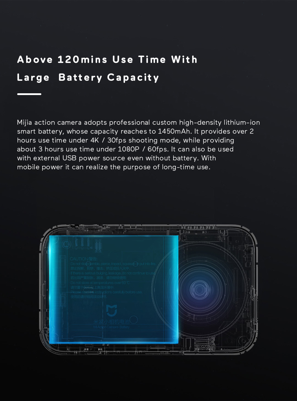 Xiaomi Mijia 4K Ambarella A12S75 Sony IMX317 2,4 - crna - image Xiaomi-Camera-Mijia-4K-Action-Camera-20170824175030872 on https://smartmall.hr