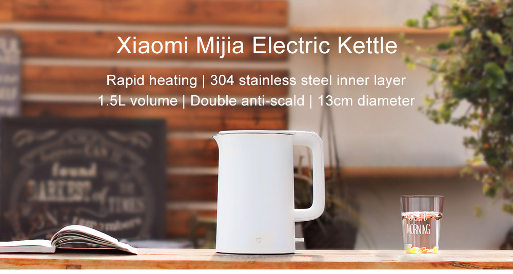 Kuhalo za vodu Xiaomi Mijia 304 1,5 l - bijela - image Xiaomi-Mijia-Electric-Kettle-White-20170909111520608 on https://smartmall.hr
