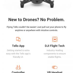 DJI Tello 720P WIFI FPV RC Dron s 5MP HD kamerom Intel - image ffd2bc40-fe36-4aa1-adad-7571ccb1065b-300x300 on https://smartmall.hr
