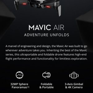 DJI Mavic Air DRON SmartCapture Sklopivi RC drone RTF - Arctic White - image geekbuying-DJI-Mavic-Air-4K-Foldable-RC-Drone-Fly-More-Combo-Flame-Red-479928--300x300 on https://smartmall.hr
