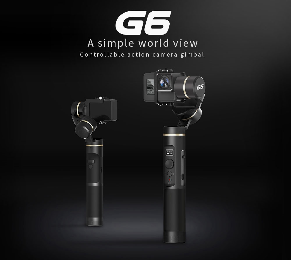 Feiyu Tech G6 3-Axis Brushless Handheld Gimbal Stabilizer for GoPro