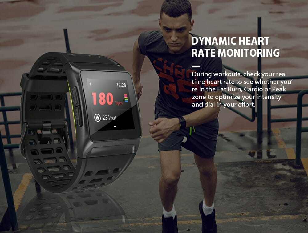 Makibes BR1 Smartwatch  Strava IPS zaslon u boji osjetljiv na dodir GPS IP67 - image geekbuying-Makibes-BR1-Smartwath-Black-483302- on https://smartmall.hr