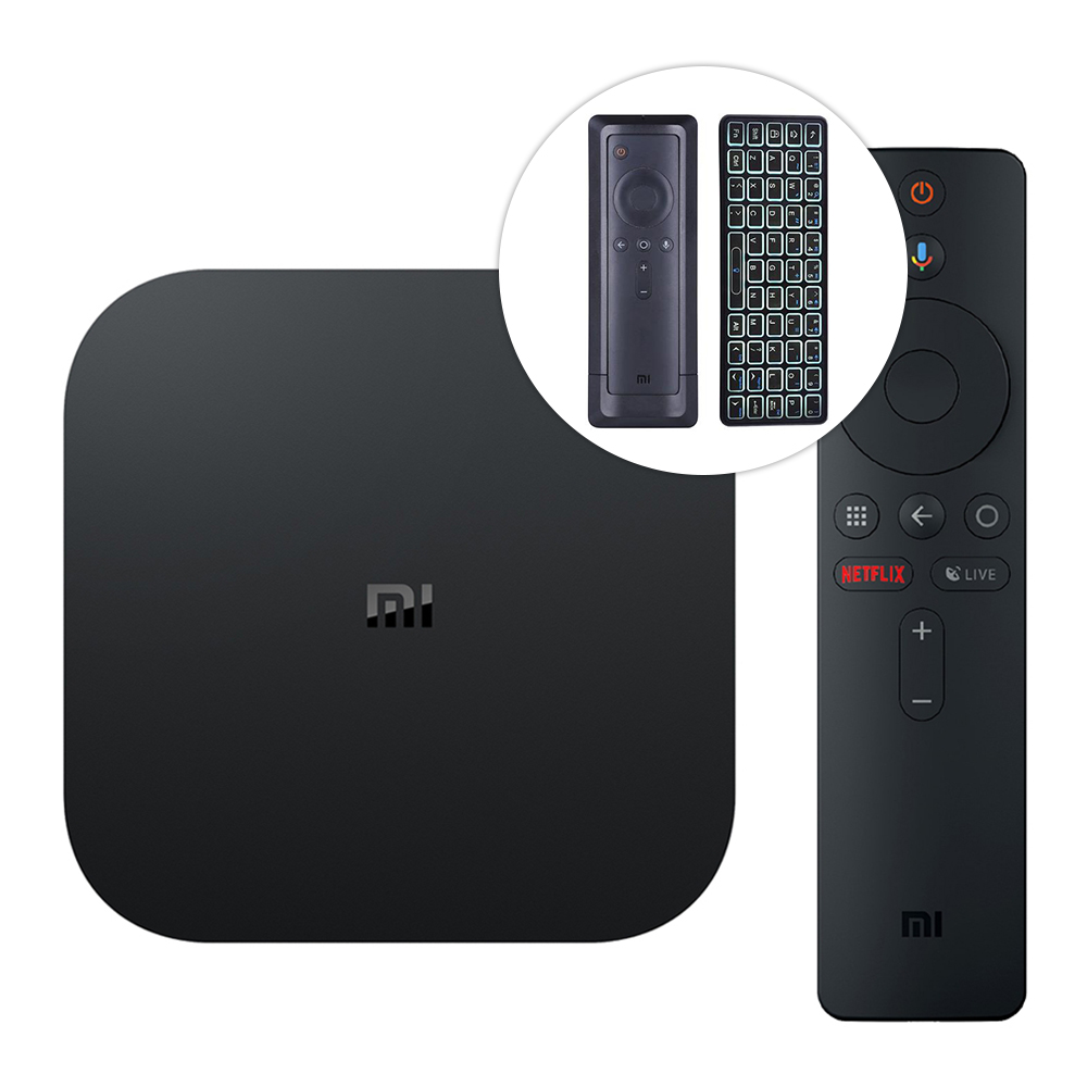 Bundle XIAOMI Mi Box S Podrška za Android 8.1 Netflix 4K 2GB / 8GB 4K TV Box Međunarodna inačica + iPazzport Bluetooth tipkovnica - image 411826 on https://smartmall.hr