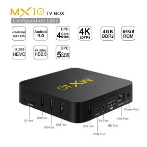 Android TV BOX - MX10 RK3328 | 4GB - 64GB | Android 9.0 - KODI 18.0 | 4K | - image MX10-RK3328-4GB-64GB-Android-8-1-TV-BOX-20190118111051100-300x300 on https://smartmall.hr