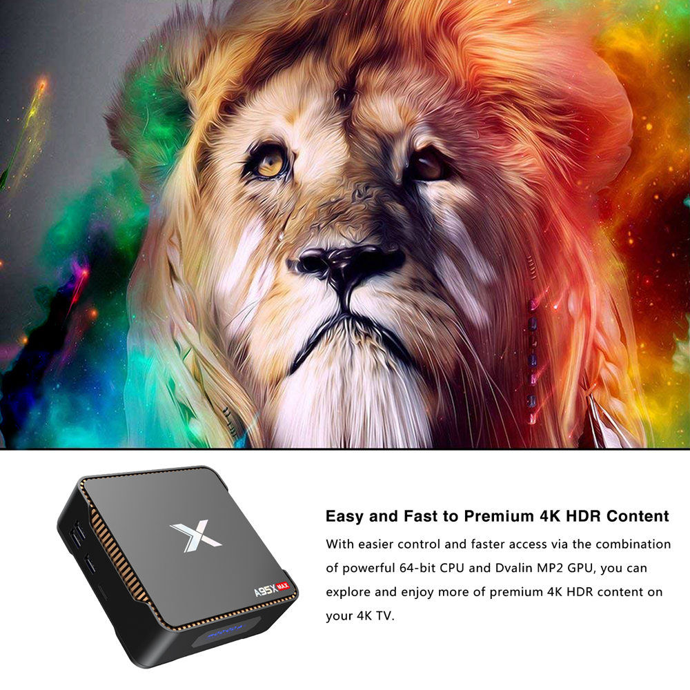 A95X MAX S905X2 - 4GB DDR4 64GB eMMC 4K Android 8.1 TV box SATA 2.5 SSD / HDD Dual Band WiFi Bluetooth Gigabit LAN USB3.0 - image geekbuying-A95X-MAX-S905X2-Android-8-1-4GB-64GB-TV-Box-720029-1-1 on https://smartmall.hr