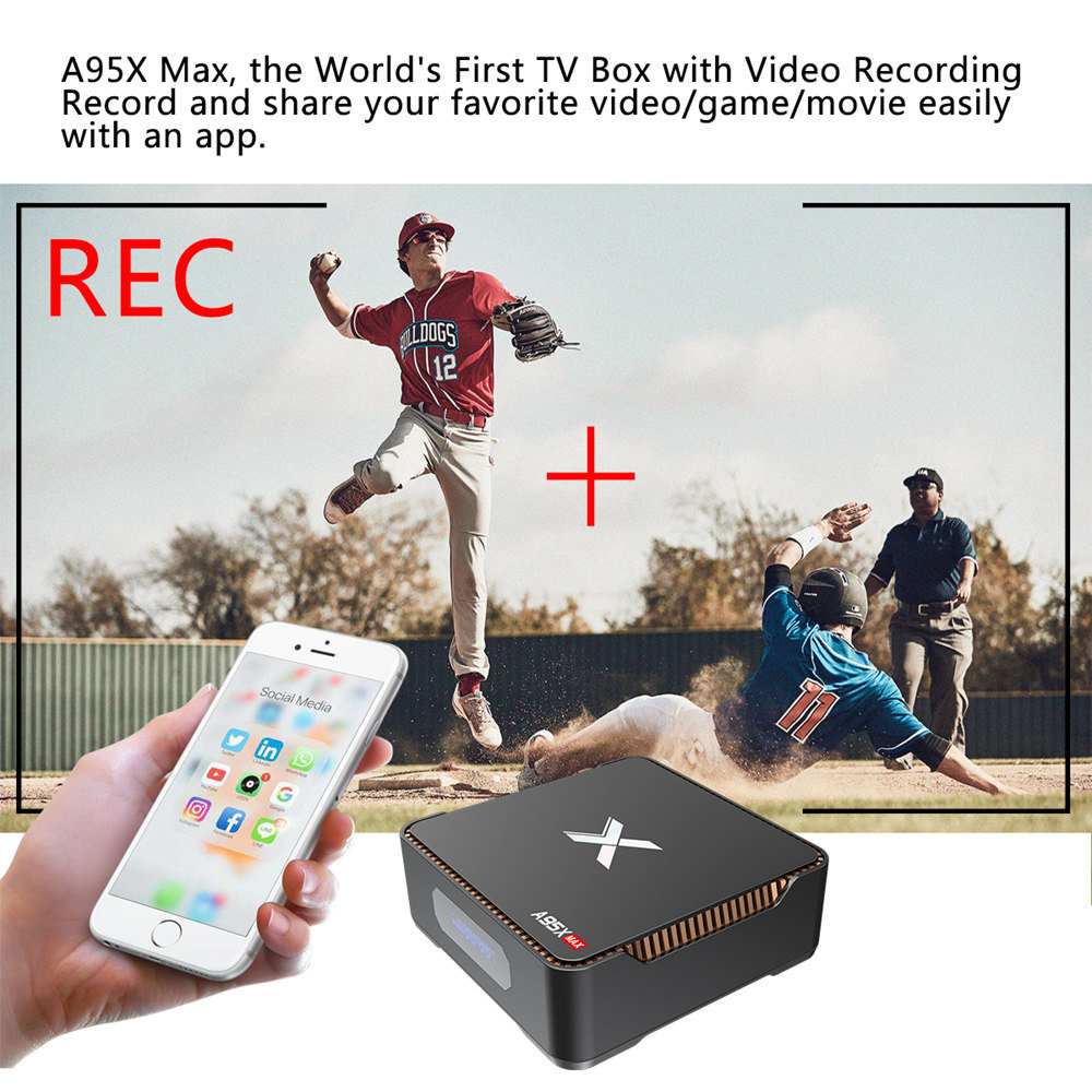 A95X MAX S905X2 - 4GB DDR4 64GB eMMC 4K Android 8.1 TV box SATA 2.5 SSD / HDD Dual Band WiFi Bluetooth Gigabit LAN USB3.0 - image geekbuying-A95X-MAX-S905X2-Android-8-1-4GB-64GB-TV-Box-720034-1-1 on https://smartmall.hr