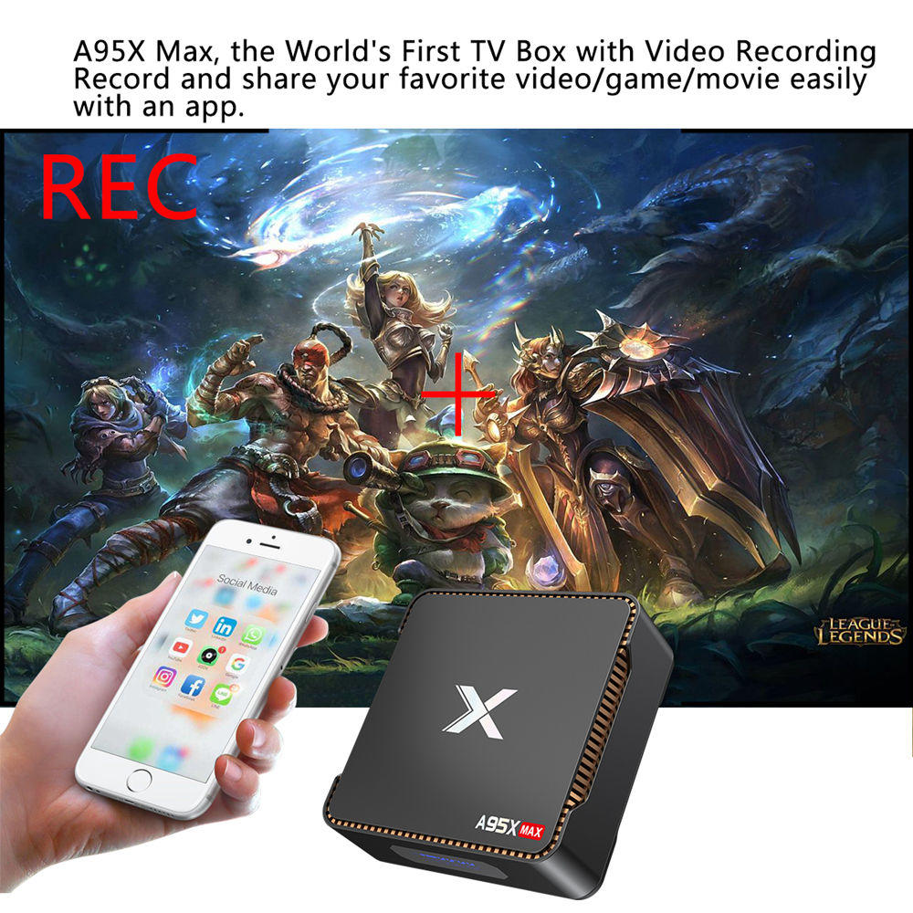 A95X MAX S905X2 - 4GB DDR4 64GB eMMC 4K Android 8.1 TV box SATA 2.5 SSD / HDD Dual Band WiFi Bluetooth Gigabit LAN USB3.0 - image geekbuying-A95X-MAX-S905X2-Android-8-1-4GB-64GB-TV-Box-720038-1-1 on https://smartmall.hr