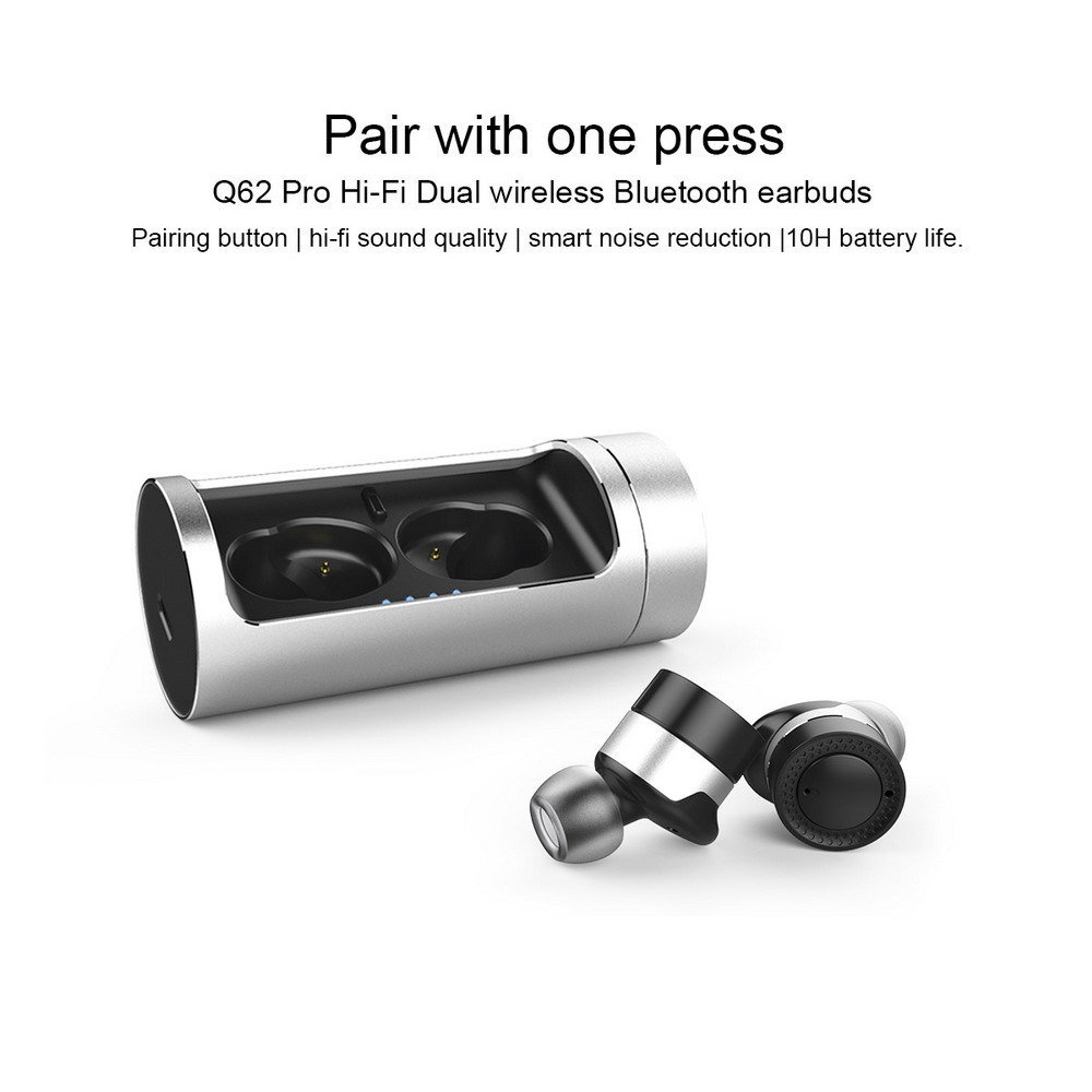 OVEVO Q62 Pro Bluetooth 4.2 Bežične slušalice 800mAh Dock CVC 6.0 AIS - crno - image geekbuying-OVEVO-Q62-Pro-Bluetooth-Earphone-Black-516282- on https://smartmall.hr