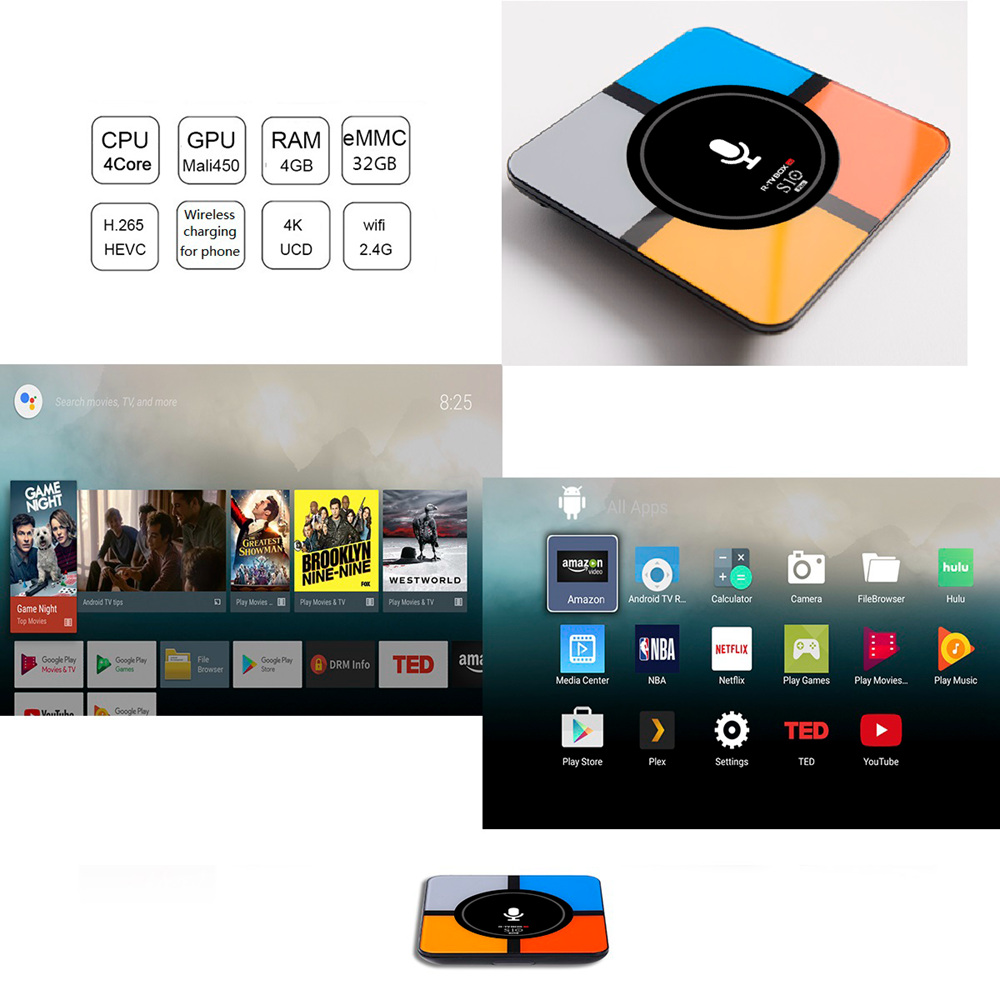 R-TV BOX S10 PLUS Android TV 7.1