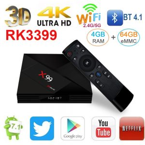 TV BOX X99 RK3399 4GB / 64GB Android 7.1 KODI 18.0 4K Bluetooth USB3.0 VP9 H.265 - image geekbuying-X99-RK3399-4GB-64GB-Android-7-1-TV-Box-663811--300x300 on https://smartmall.hr