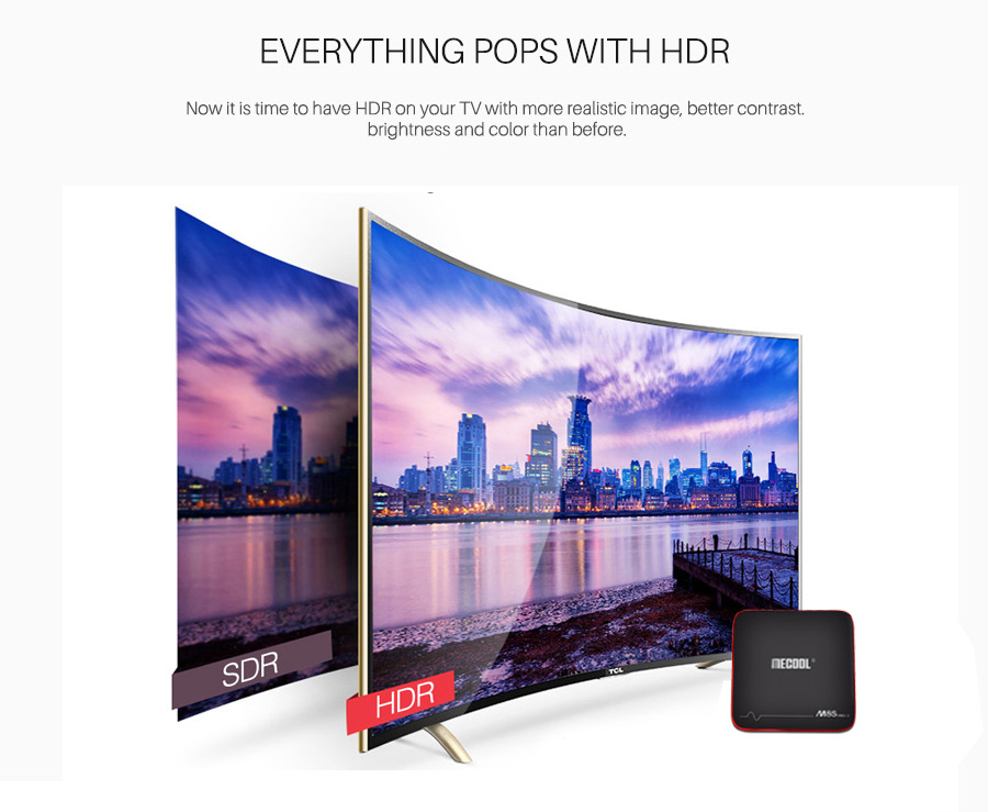 MECOOL M8S PRO W Android TV OS 2GB / 16GB