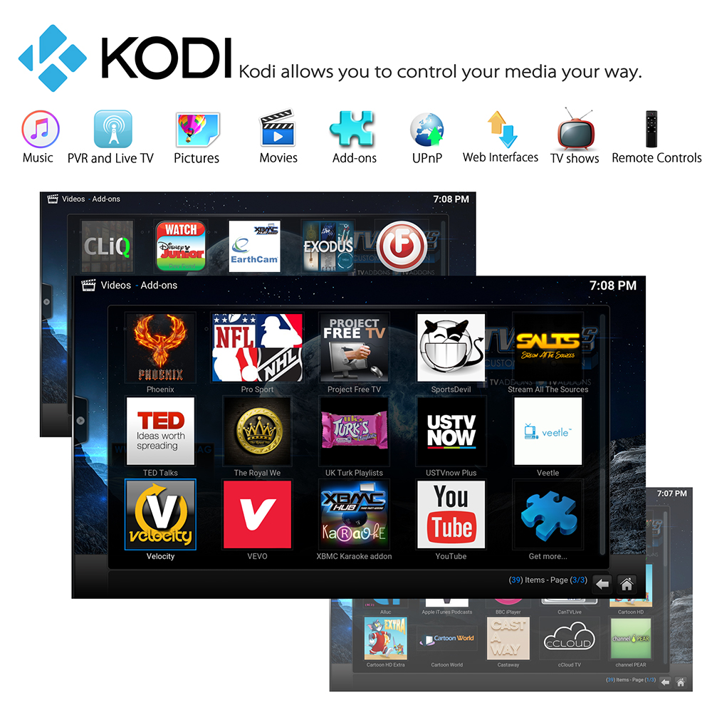 MXQ PRO+ Android 7.1.2 Amlogic S905X 4K KODI 17.3 TV BOX