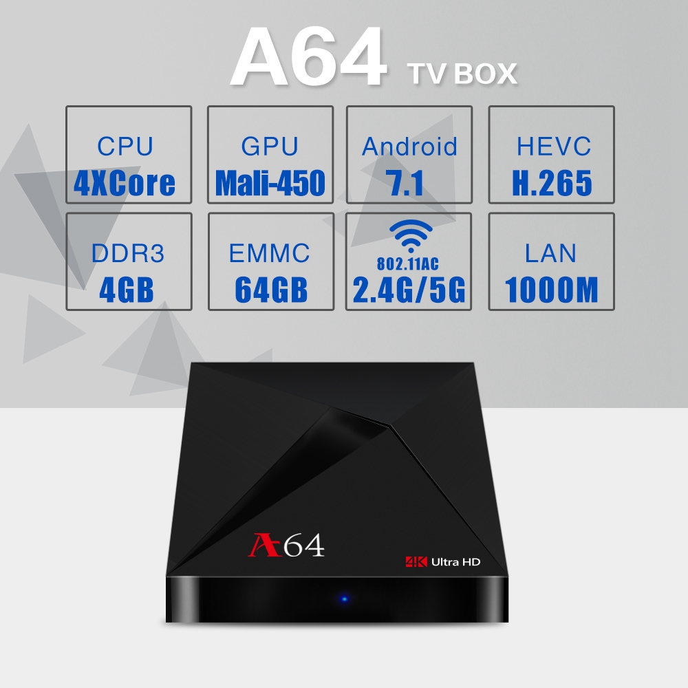 A64 4GB / 64GB KODI 18.0 RK3328 IPTV 4K TV BOX Android - image A64-KODI-18-0-Android-7-1-2-RK3328-4GB-64GB-TV-Box-20171214102405270 on https://smartmall.hr