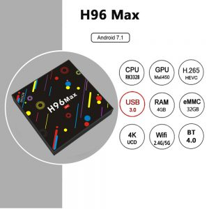H96 MAX H2  4GB / 32GB Android 7.1 RK3328 KODI 17.3 4K TV BOX 2.4G / 5G WiFi LAN Bluetooth USB3.0 HDMI - image H96-MAX-H2-Colorful-Edition-4GB-32GB-Android-7-1-RK3328-TV-Box-20171221160529726-300x300 on https://smartmall.hr