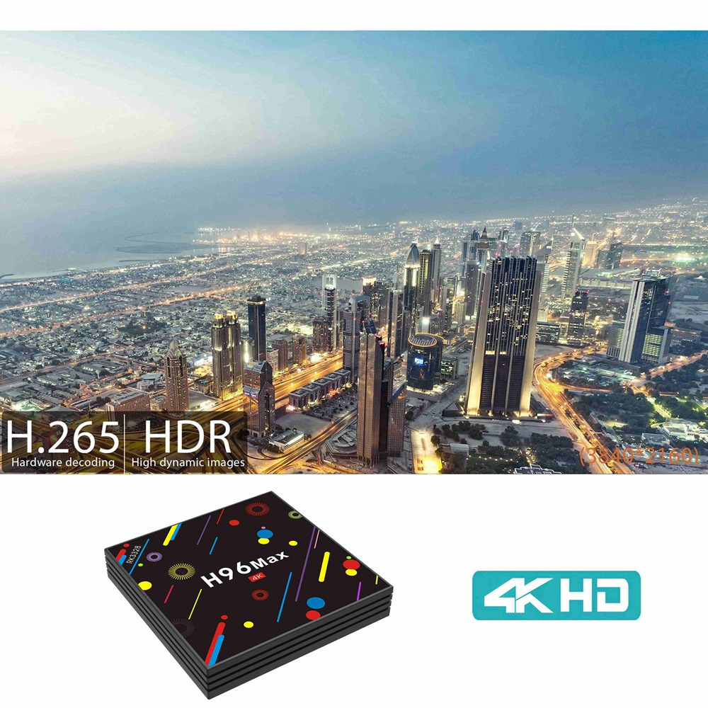 H96 MAX H2  4GB / 32GB Android 7.1 RK3328 KODI 17.3 4K TV BOX 2.4G / 5G WiFi LAN Bluetooth USB3.0 HDMI - image H96-MAX-H2-Colorful-Edition-4GB-32GB-Android-7-1-RK3328-TV-Box-20171221160638975 on https://smartmall.hr