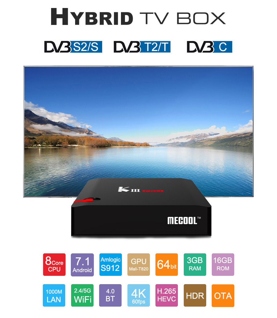MECOOL  - KIII PRO DVB-T2 / S2 / C YouTube 4K Netflix HD Android 7.1 S912 3GB / 16GB KODI 17.0 802.11AC WIFI Bluetooth 1000M LAN - image MECOOL-KIII-PRO-DVB-T2-S2-TV-BOX-20171207163325611 on https://smartmall.hr