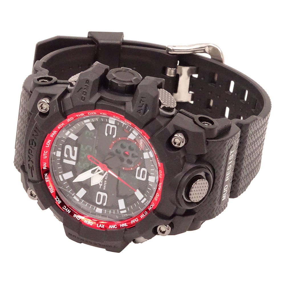 T5836 Muški sportski vodootporni vojni sat crna + crvena - image T5836-Men-Sports-Waterproof-Watch-Black-Red-839299-1-1 on https://smartmall.hr