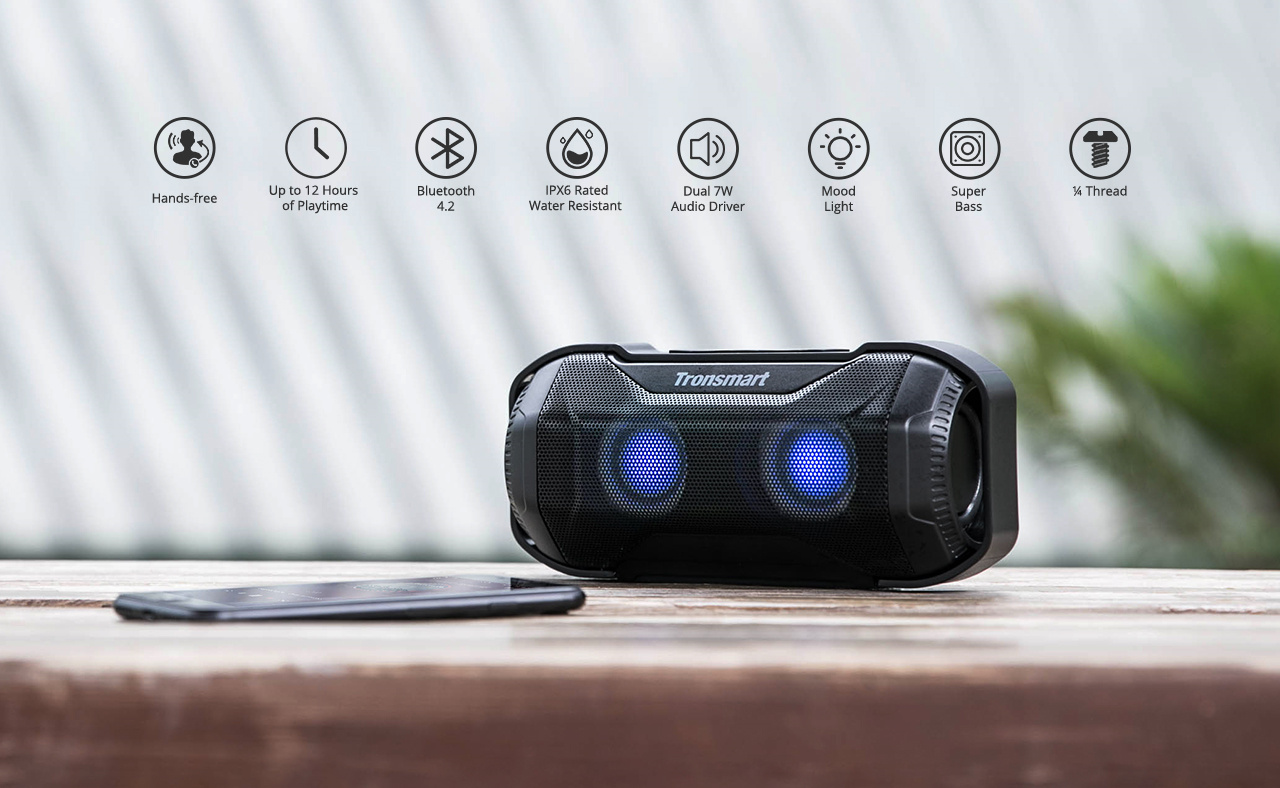 Tronsmart Element Blaze Bluetooth zvučnik IPX6 - image Tronsmart-Element-Blaze-10W-Bluetooth-Speaker-20190319115111785 on https://smartmall.hr