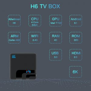 H6 Allwinner H6 Android9.0 4G / 32G 6K HDR TV BOX - image geekbuying-H6-TV-Box-Android9-0-Allwinner-H6-4GB-32GB-2-4G-WIFI-USB3-0-805642--300x300 on https://smartmall.hr