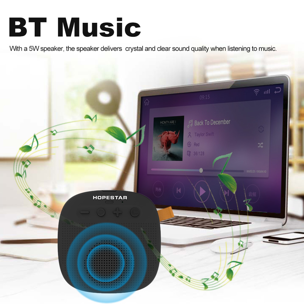 Prijenosni Bluetooth zvučnik - HOPESTAR P9 | LED svjetiljka za napajanje | crna boja - image geekbuying-HOPESTAR-P9-Outdoor-Bluetooth-Speaker-Black-Black-711779- on https://smartmall.hr