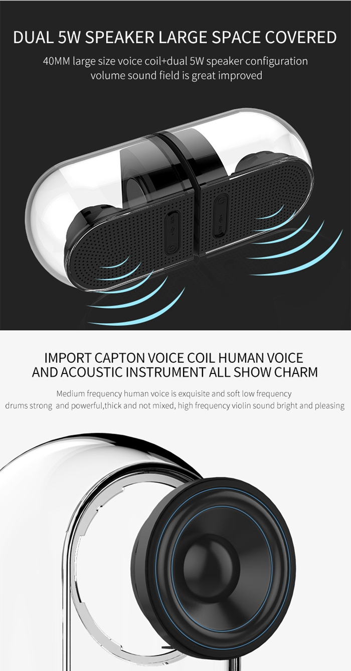 OVEVO D18 3D - Magnet - Bluetooth 4.2 - Vodootporni zvučnici - image geekbuying-OVEVO-D18-3D-Magnet-Bluetooth-Speakers-HiFi-Black-541340- on https://smartmall.hr