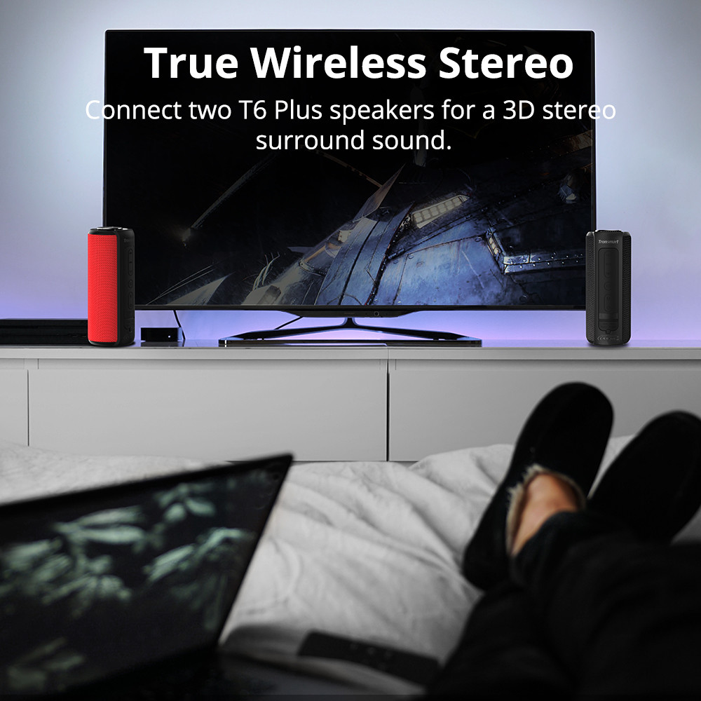 Tronsmart Element T6 Plus - Vodootporni bluetooth zvučnik | Moćni bass | 40 W - image T6-Plus-TV on https://smartmall.hr